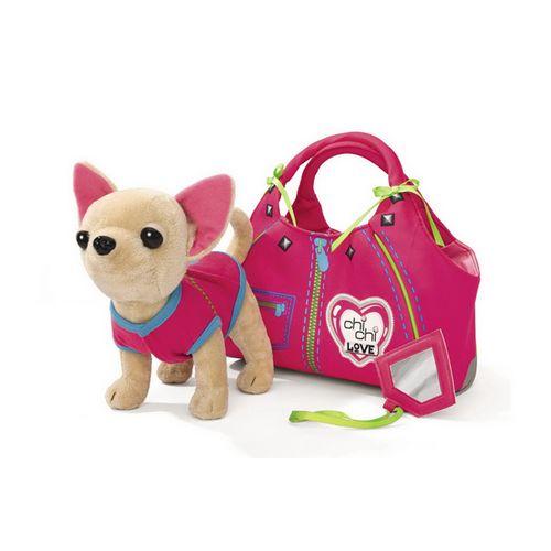 Плюшевая собачка с сумкой Simba