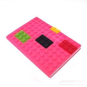 Блокнот lego, розовый