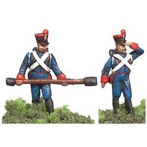 Два французских артелериста (формы для литья) 25 мм