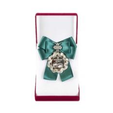 Большая медаль с зеленым бантом Любимому мужу