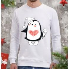 Мужской свитшот Пингви с мороженым