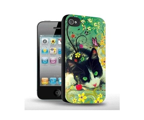 Панель для iPhone «Зеленоглазая кошка»