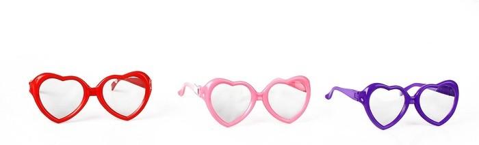 Карнавальные очки детские Сердечко