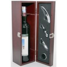 Винный набор «Кофр для бутылки с винными аксессуарами»