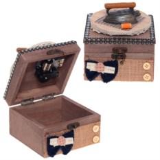 Музыкальная шкатулка Рукоделие, размер 11х11х13 см
