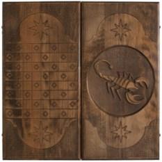Резные нарды Скорпион