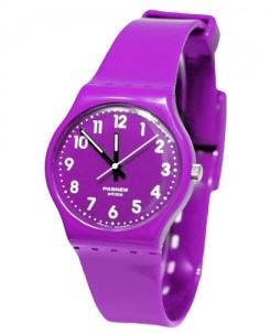 Фиолетовые часы Color