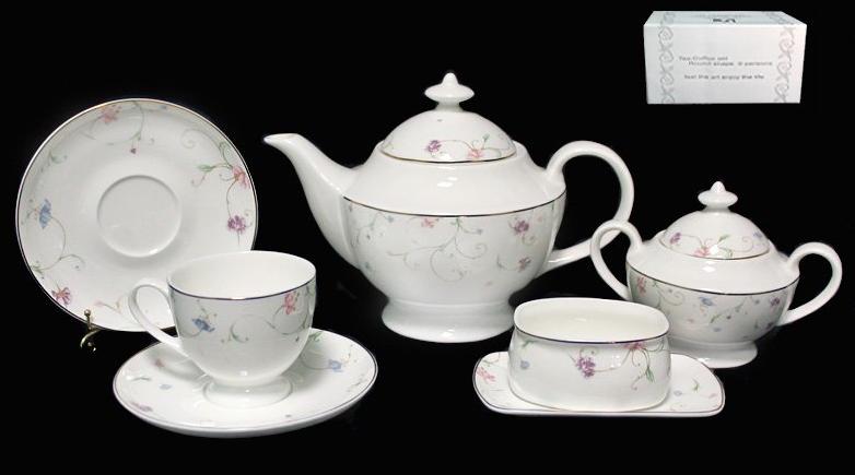 Сервиз чайный Lenardi серия Английский сад 6 персон