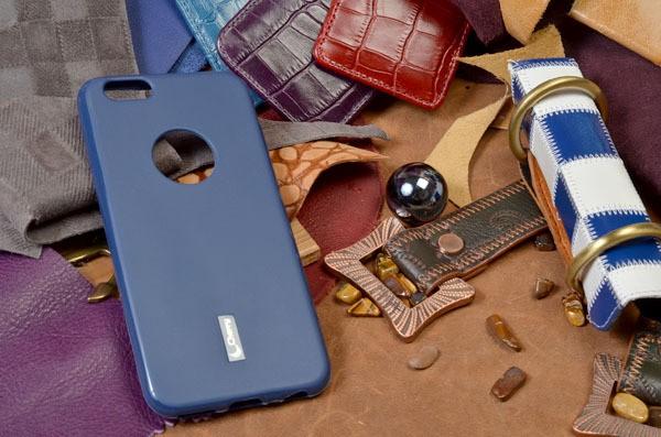 Ультратонкий синий чехол-накладка для iPhone 6S/6
