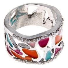 Кольцо с цветной эмалью Richness