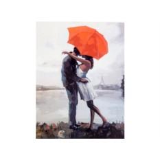 Картины по номерам «Поцелуй под зонтом»