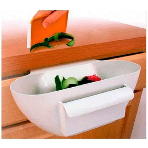 Подвесная емкость со скребком для кухонных отходов