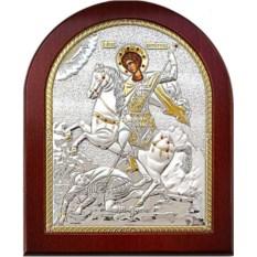 Икона в серебряном окладе Чудо Димитрия Солунского