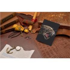 Кожаная обложка для паспорта Elole Design Оскал леопарда