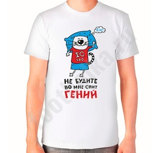 Мужская футболка Не будите. Во мне спит гений