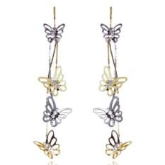Серьги с бабочками под серебро Mia Collection