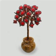 Дерево из коралла Исида ввазочке из оникса
