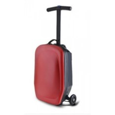 Красный чемодан-самокат