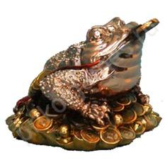 Статуэтка  Денежная лягушка с монеткой (Фен шуй)