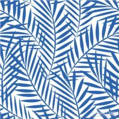 Бумажные салфетки Palm leaves indigo