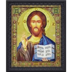 Большая икона Христос Спаситель с кристаллами Swarovski