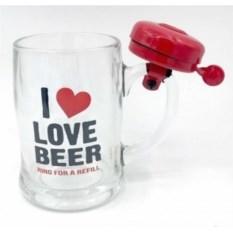 Кружка со звонком Love Beer