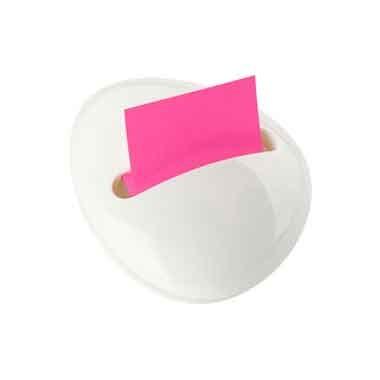 Блок-куб в пластиковом диспенсере морской камень