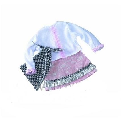 Набор с косынкой: юбка и кофточка