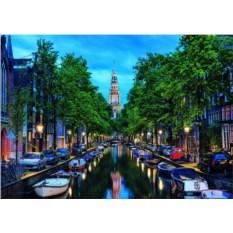 Пазл Educa Сумерки на канале в Амстердаме (1500 шт.)