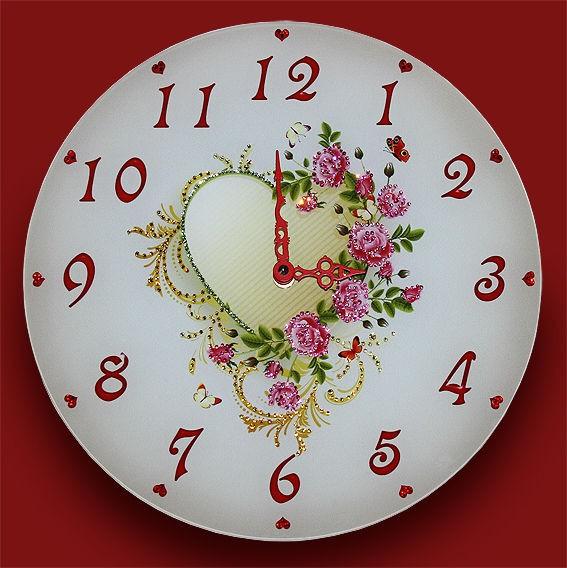 Часы с кристаллами сваровски Стук сердец