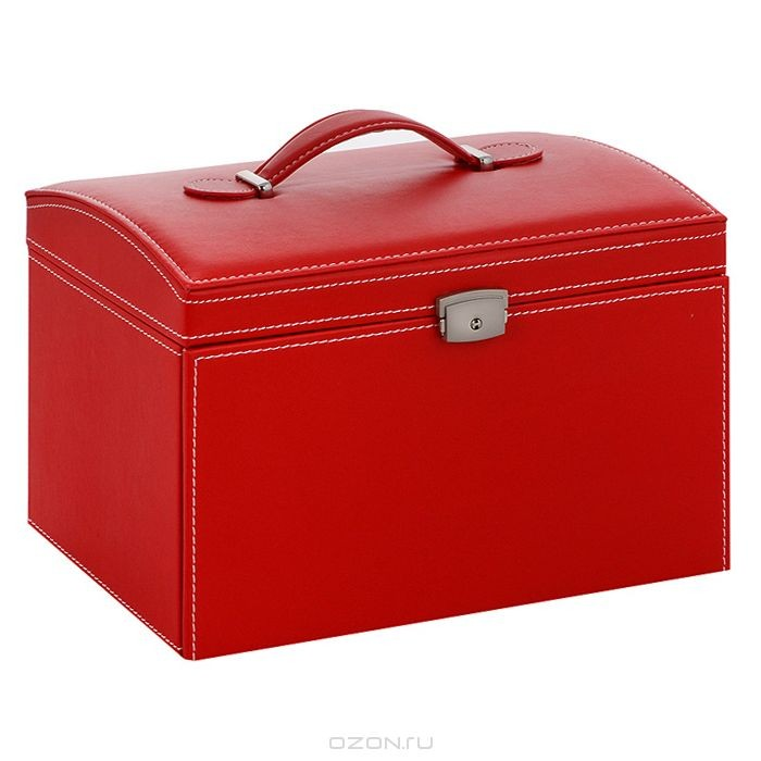 Шкатулка для украшений H8526, цвет: красный