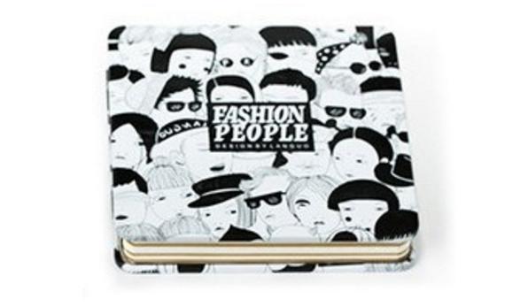Черно-белый креативбук с жестяной обложкой Fashion People