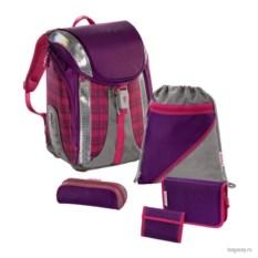 Бордовый школьный ранец Step by Step School Flexline