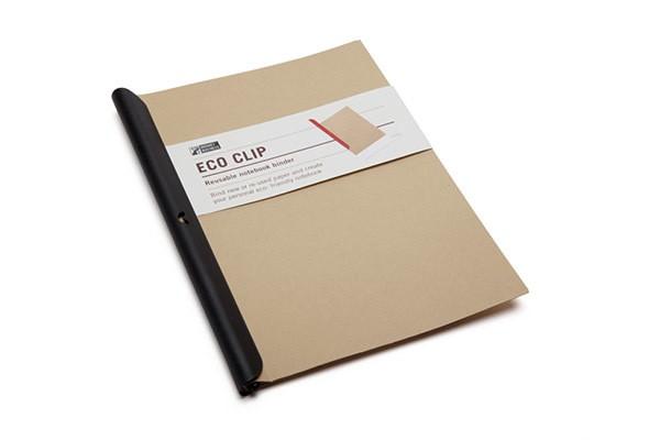 Черный блокнот Eco Clip