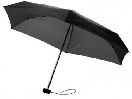 Черный складной механический зонт в футляре