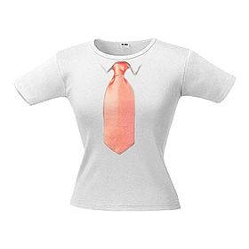 Футболка женская с 3D галстуком Line 56