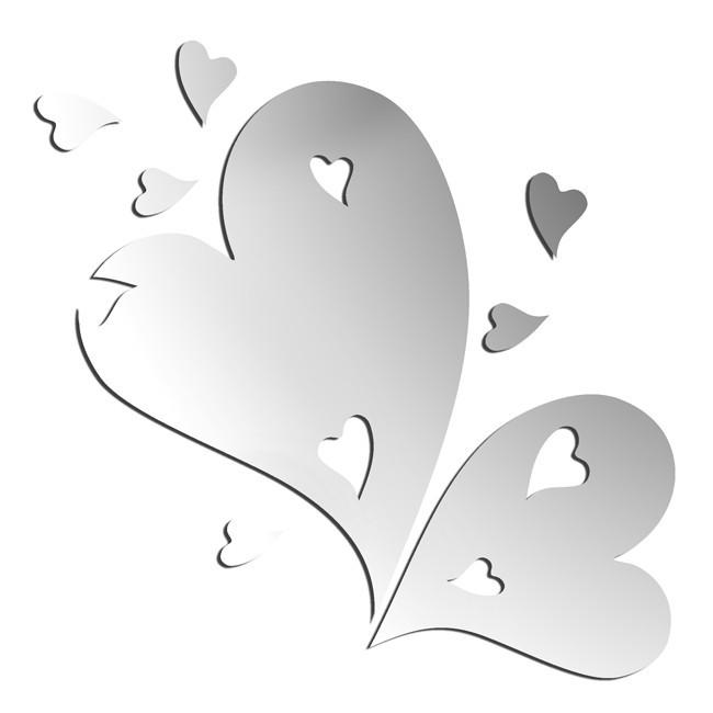 Зеркало Влюбленные сердца