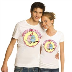 Парные футболки для двоих Любовь окрыляет