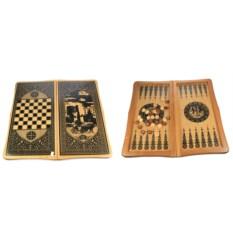 Настольная игра Нарды и шахматы, размер 64 х 31 см