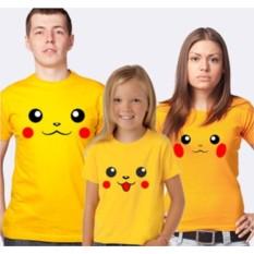 Семейные футболки с покемонами Пикачу