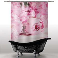 Шторка для ванны Пионы