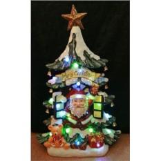 Новогодняя композиция с подсветкой С Рождеством!