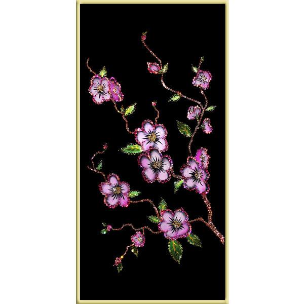 Картина из кристаллов «Сакура»
