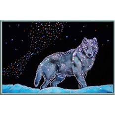 Картина с кристаллами Swarovski Северный волк