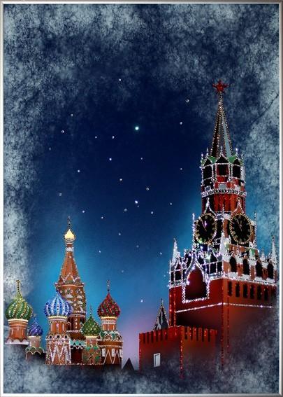 Картина с кристаллами Swarovski Красная площадь