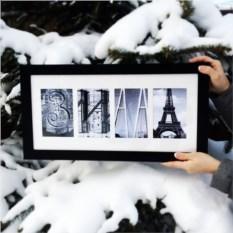 Картина из фото Зима