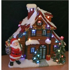 Новогодняя композиция Домик Деда Мороза