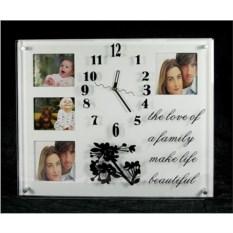 Часы-фоторамка на 4 фото История любви