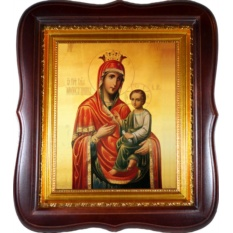 Скоропослушница. Икона Божьей Матери на холсте.