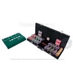 Набор для покера NUTS Black на 500 фишек Lite